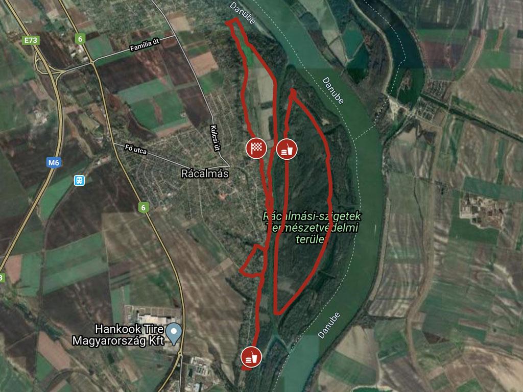 Rácalmási szigetfutás 25 km kerékpáros táv